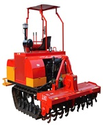 Agricultural machine powder coating